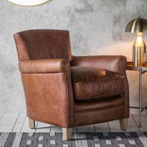 Mr. Paddington Chair In Vintage Brown Leather