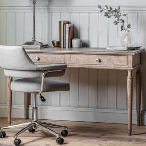 Mustique Mindy Ash Wooden Laptop Desk With 2 Drawers