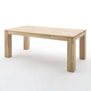 Nantes Medium Wooden Butterfly Dining Table In Beech Heartwood