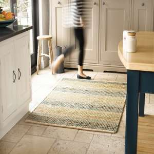 Natural Living Seagrass Blue Rug
