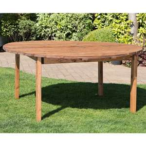 Necova Large Round Wooden Dining Table