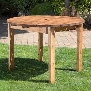 Necova Small Round Wooden Dining Table
