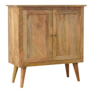 Neligh Wooden Storage Cabinet In Natural Oak Ish