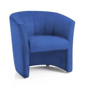 Neo Fabric Single Tub Chair In Blue