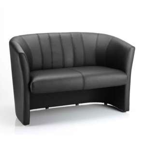 Neo Leather Twin Tub Chair In Black