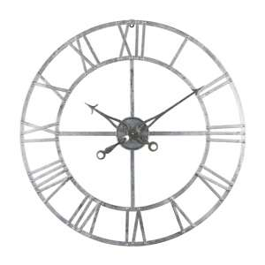 Neoga Small Foil Skeleton Metal Wall Clock In Silver