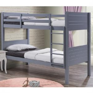 Napoli Wooden Children Bunk Bed In Grey