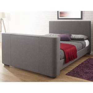 Newark Fabric King Size Electric TV Bed In Grey