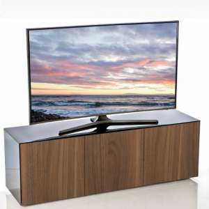 Nexus Large TV Stand In Black Gloss Walnut And Wireless Charging