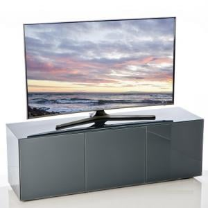 Nexus Large TV Stand In Grey High Gloss With Wireless Charging