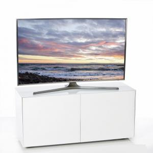 Nexus Small TV Stand In White High Gloss With Wireless Charging