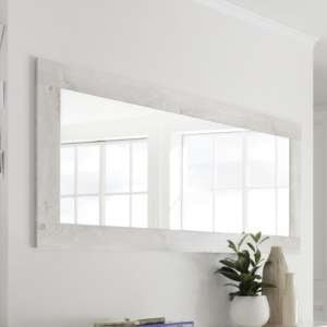 Nitro Wall Bedroom Mirror In White Pine Wooden Frame