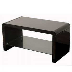 Norset Modern Coffee Table Rectangular In Black Gloss