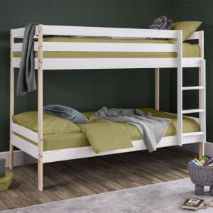 Nova Wooden Bunk Bed In White Lacquer