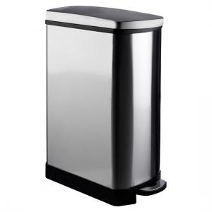 Nova Rectangle Pedal Bin In Stainless Steel