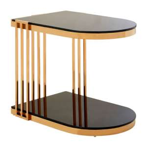 Kurhah U-Shaped Side Table In Rose Gold