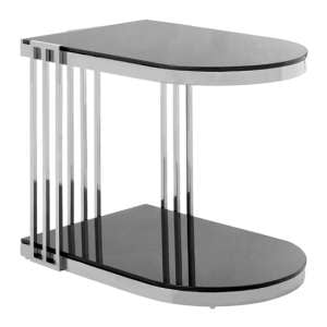 Kurhah U-Shaped Side Table In Silver