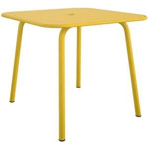 Novogratz June Square Metal Dining Table In Yellow