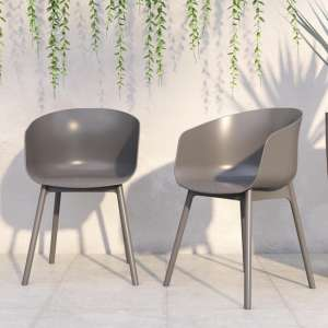 Novogratz York Outdoor Charcoal Resin Dining Chairs In Pair