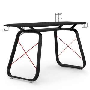Oblivion Carbon Fibre Effect Gaming Desk In Black And Red
