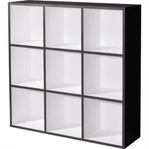 Linea Anthracite White Wall Shelving Unit