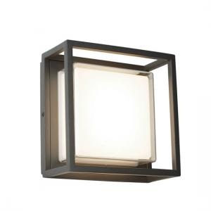 Ohio outdoor led square with dark grey opal white