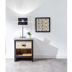 Olivares Lamp Table In Oak With One Drawer