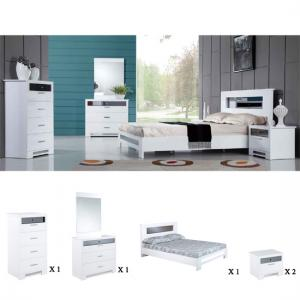 Olivia Bedroom Furniture Sets High Gloss White