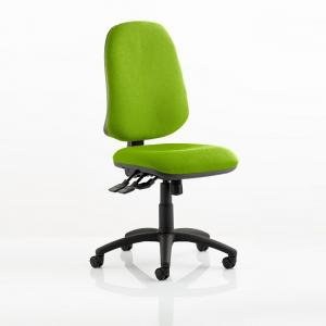 Olson Home Office Chair In Green With Castors