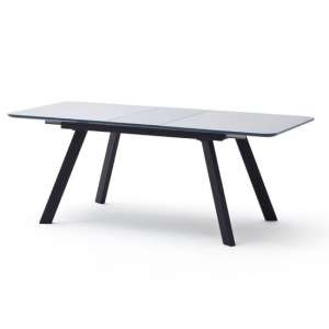 Omaha Extending Large Glass Dining Table In Grey