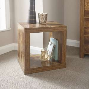 Omero Contemporary Wooden Square End Table