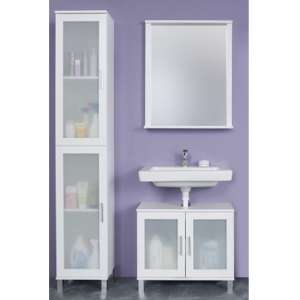 Onix Bathroom Furniture Set 4 In White And Glass Fronts