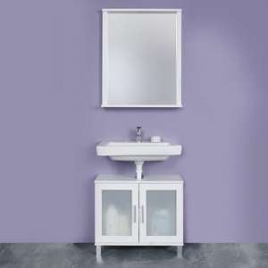 Onix Bathroom Furniture Set 6 In White And Glass Fronts