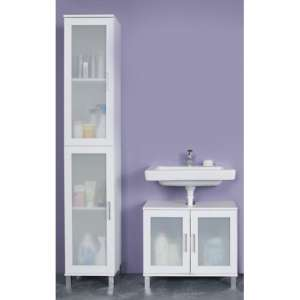 Onix Bathroom Furniture Set 7 In White And Glass Fronts
