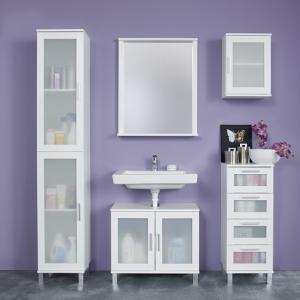 Onix Bathroom Furniture Set In White And Glass Fronts