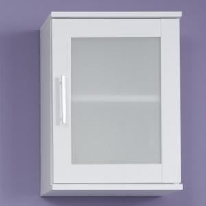 Onix Bathroom Wall Mounted Cabinet In White And Glass Fronts