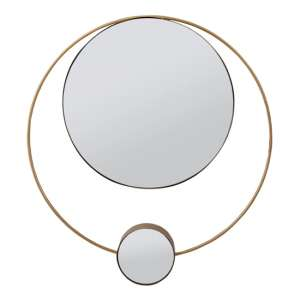 Ophelia Round Double Wall Mirror With Bright Gold Frame