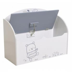 Optima Toy Box Cum Blanket Box In White And Grey_2