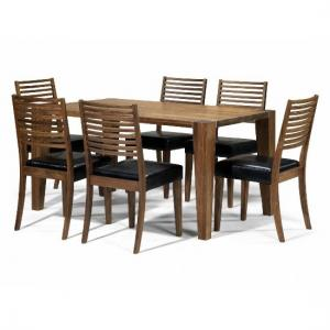 Opus Solid Walnut 6 Seater Dining Set