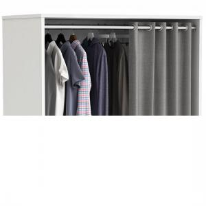 Opus Storage Unit In Pearl White And Grey Curtain With Rollers_3
