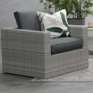 Oravo Armchair In Organic Grey