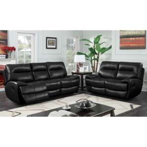 Orionis Recliner 2 Seater And 3 Seater Sofa Suite In Black