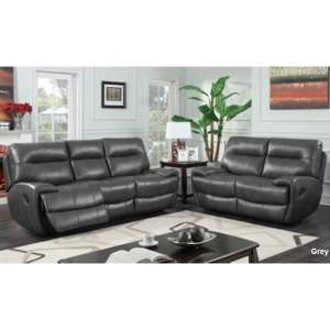 Orionis Recliner 2 Seater And 3 Seater Sofa Suite In Grey