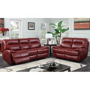 Orionis Recliner 2 Seater And 3 Seater Sofa Suite In Red