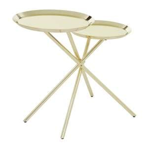 Orizone Mirrroed Side Table With Gold Stainless Steel Legs