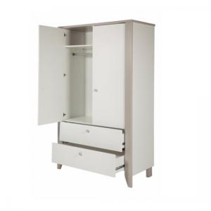 Orsang Childrens Wardrobe In White With 2 Doors And 2 Drawers_3