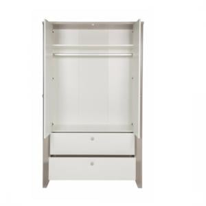 Orsang Childrens Wardrobe In White With 2 Doors And 2 Drawers_4