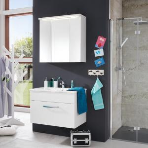 Orson Bathroom Set 1 In White And High Gloss Fronts With LED
