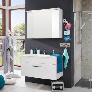 Orson Bathroom Set 3 In White And High Gloss Fronts With LED