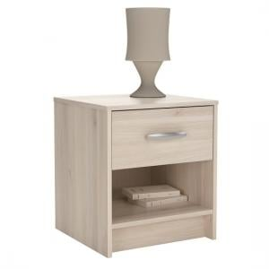 Osaka Modern Bedside Cabinet In Acacia With 1 Drawer